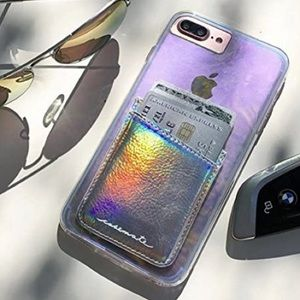 Case-Mate - Stick On Credit Card Wallet Iridescent